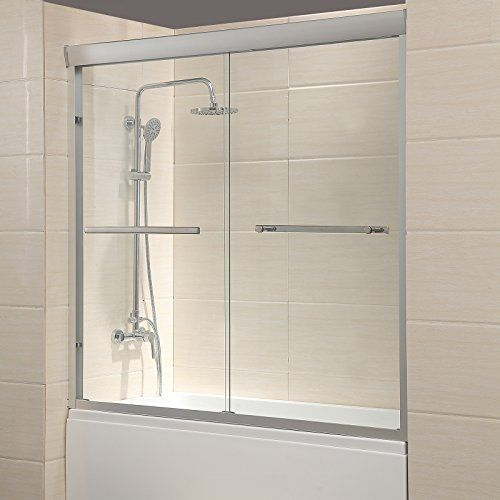 Waagee 60 Framed 1 4 Clear Glass 2 Sliding Bath Shower Shower Doors Sliding Shower Door Shower Sliding Glass Door