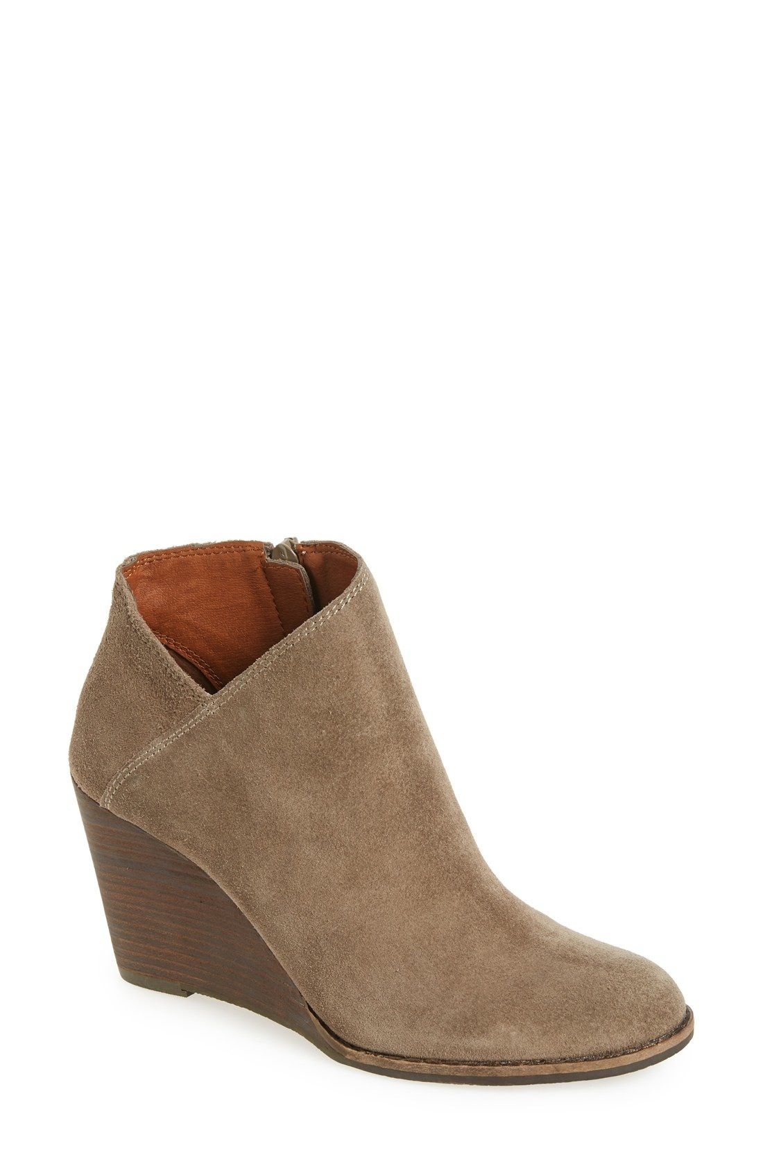 4359536b0d5b Lucky Brand  Yakeena  Zip Wedge Bootie (Women) available at  Nordstrom