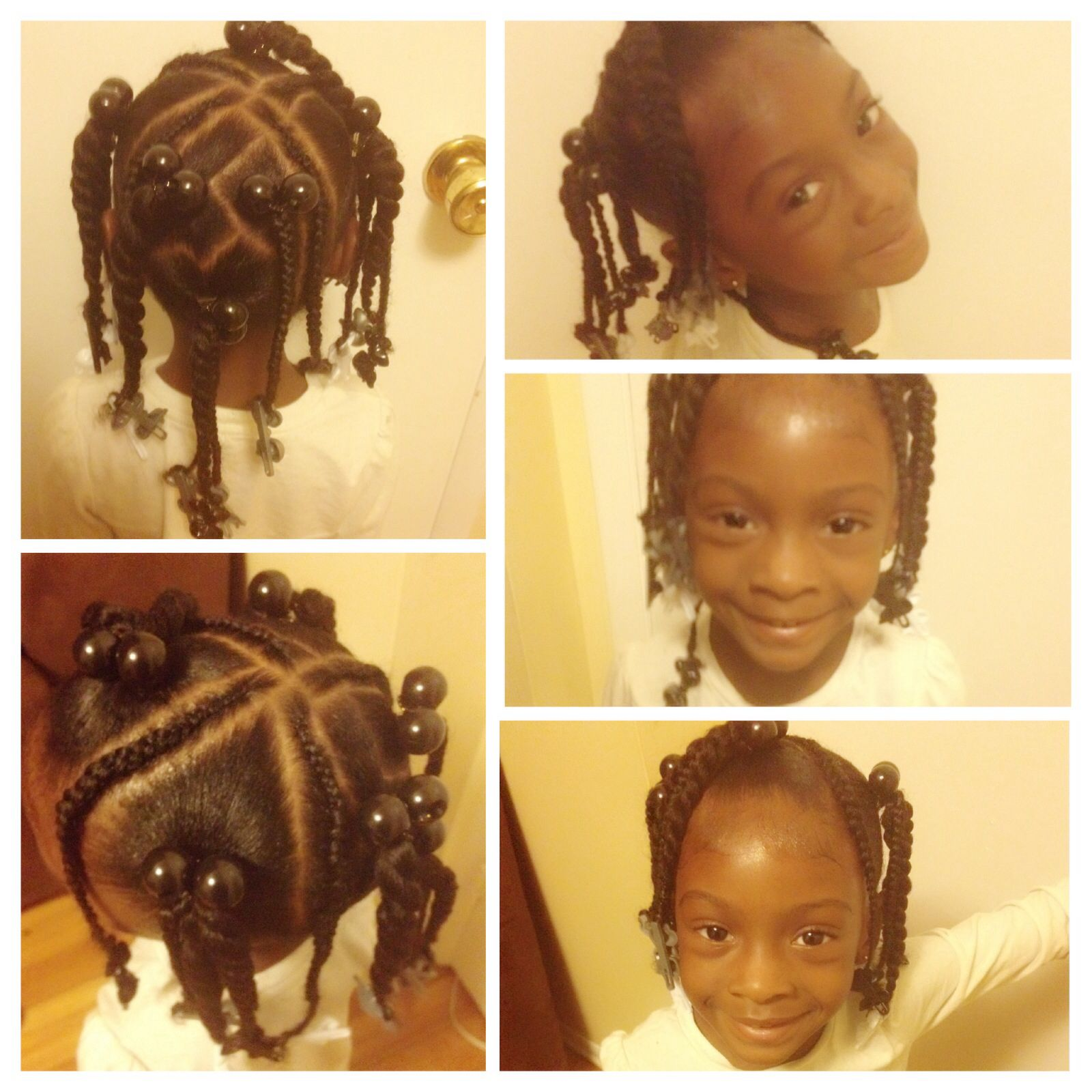 ponytails/ braids/ twist / little girls hairstyles/ black little