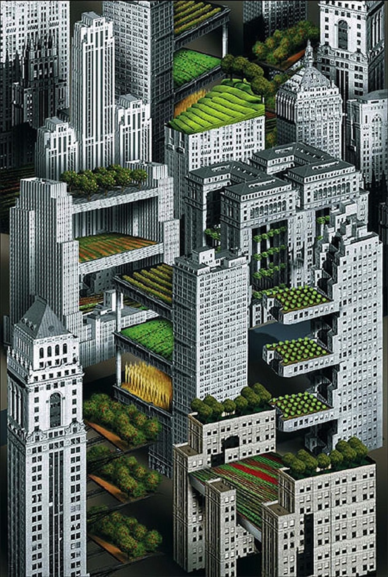 Future City Urban Gardens The Commitment Of All Pinterest - Tianducheng a ghostly abandoned clone of paris in the middle of china
