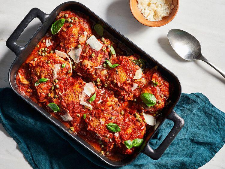 Big Batch Baked Chicken Cacciatore Cooking Light In 2018 Chicken