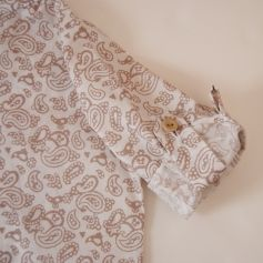 Camisa manga remangable cachemir Tarifa | No llores patito