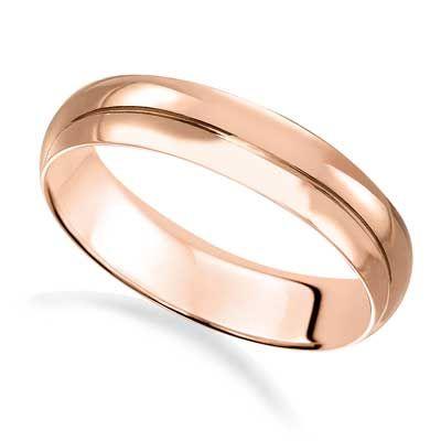Men S 4 0mm Wedding Band In 14k Rose Gold Size