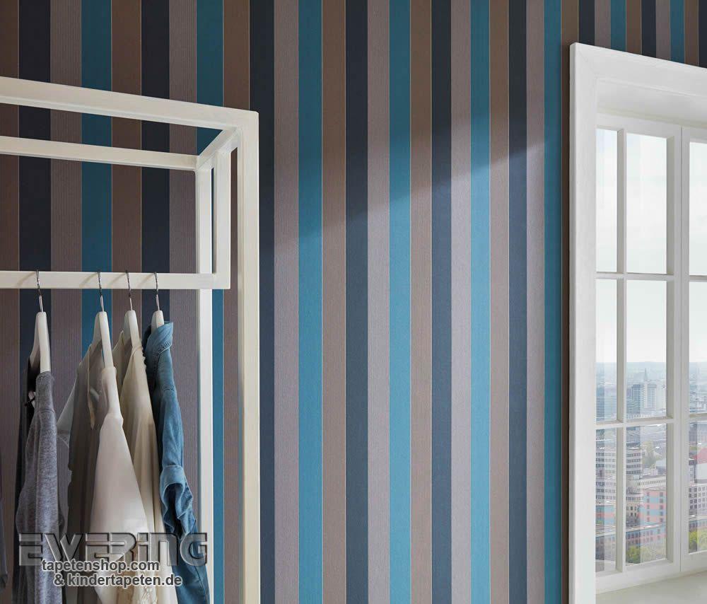 AuBergewohnlich Loft Style Bringen Die Kretschmer Tapeten Mit Farben Wie Petrol Und Braun