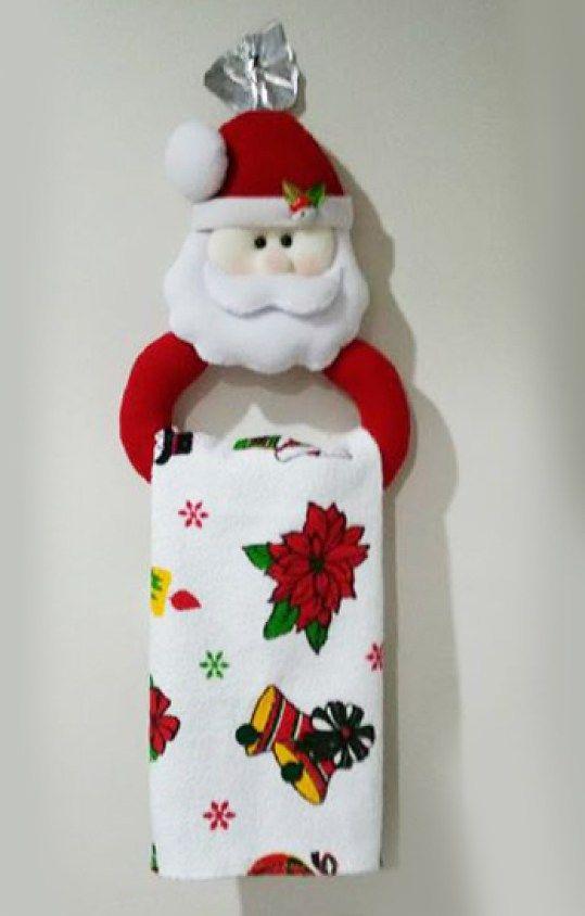 Molde para hacer un porta toalla navideño | navideño | Christmas ...