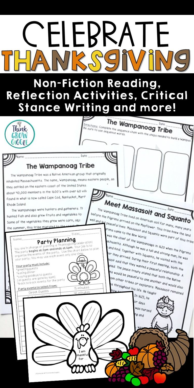 These Thanksgiving Reading Comprehension Activities Include Nonfictio Thanksgiving Readings Thanksgiving Reading Comprehension Reading Comprehension Activities [ 1536 x 768 Pixel ]