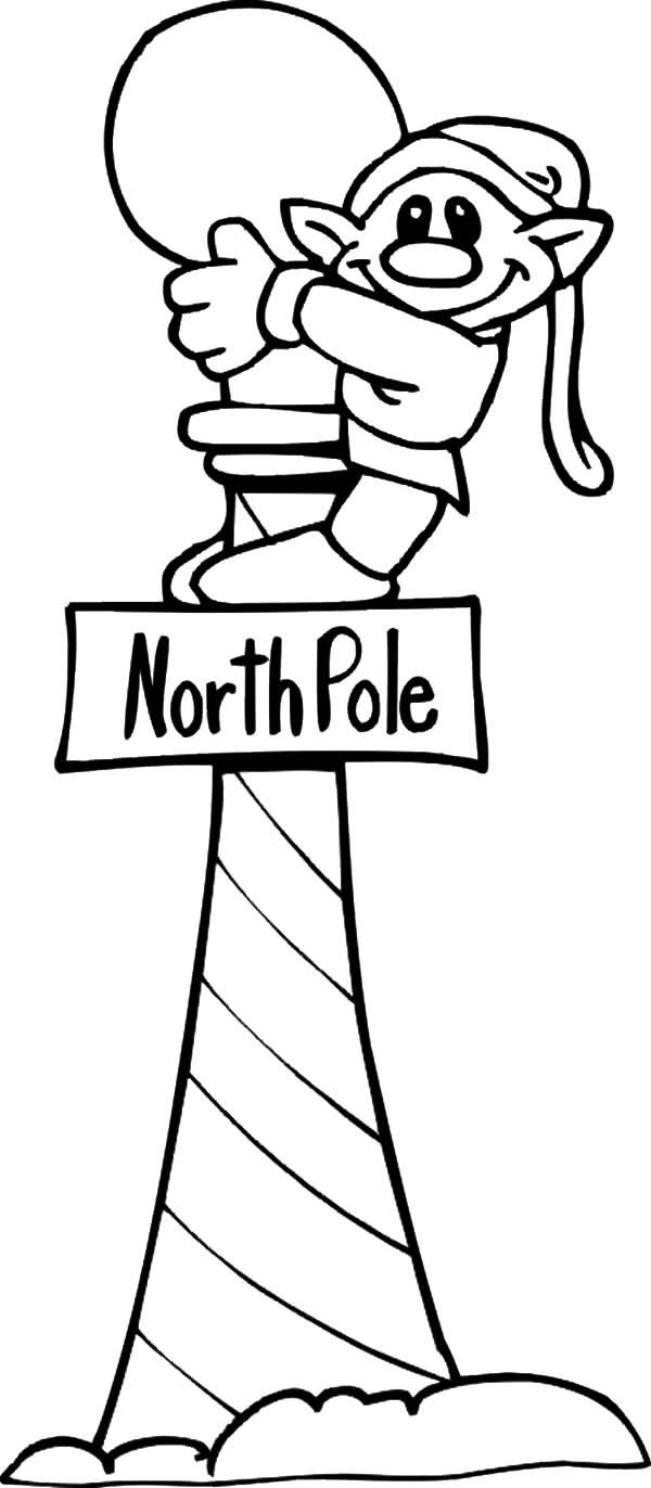 north pole elves christmas coloring pages elves with present box coloring pages free printable coloring jpg