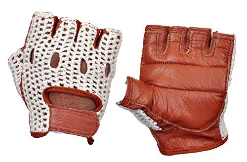 WHEELCHAIR GLOVE FINGER LESS DRIVING BIKE CYCLING LEATHER GLOVES SPORT
