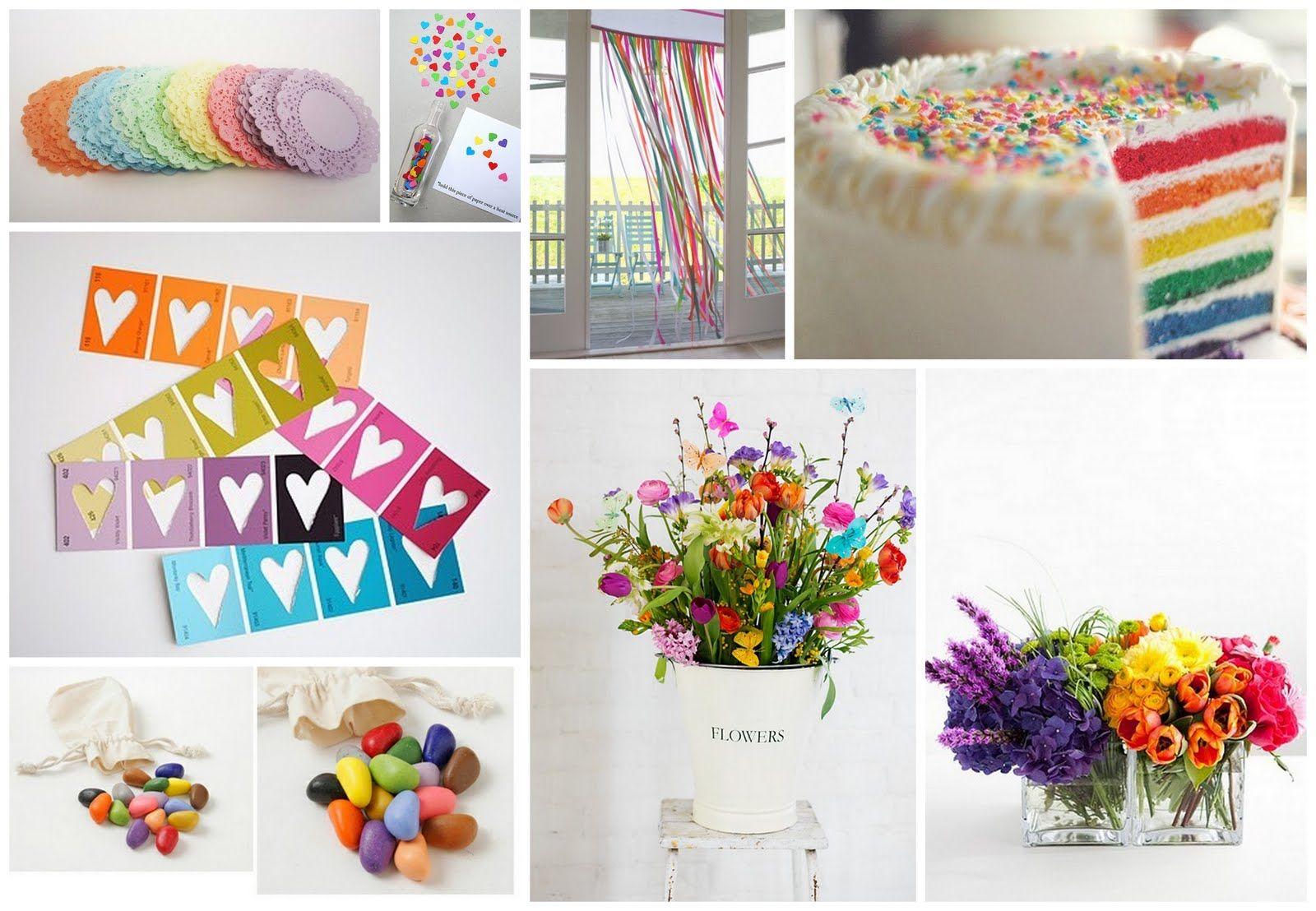 Rainbowwedding Weddinginspiration Rainbow Flowers Bouquets