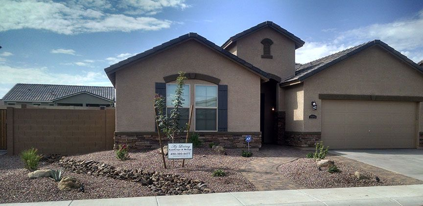 Arizona Front Yard Desert Landscape Redesign With Paver