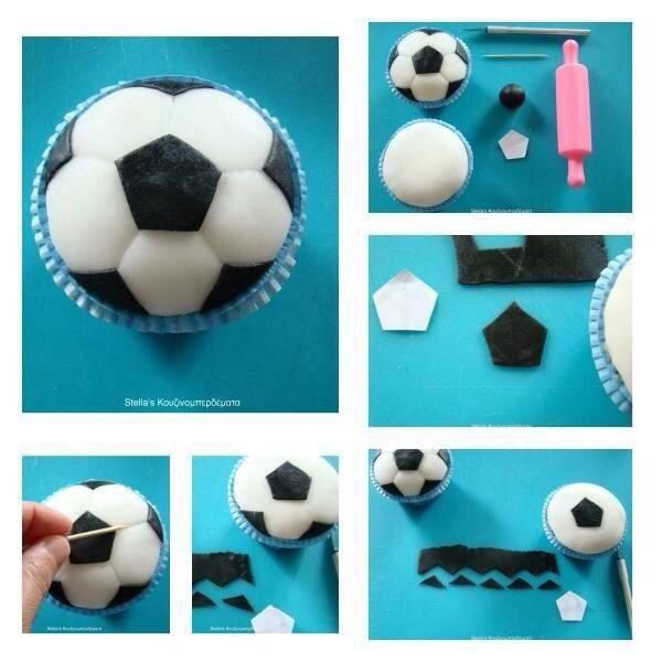 Soccer Ball Cupcake Tutorial Soccer ball Cake decorating supplies