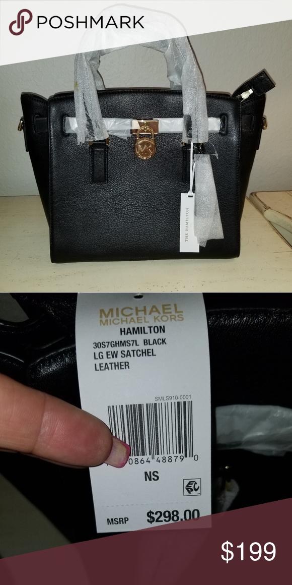 b69e85c0baaf Michael Kors- The Hamilton Black! #poshmark #fashion #shopping #style #Michael  Kors #Handbags