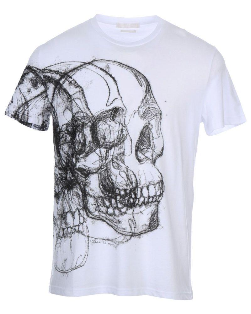 Alexander Mcqueen Schuhe Kopen Alexander Mcqueen T Shirts Herren Bekleidung T Shirts Alexande Cotton Shirts For Men Mens Cotton T Shirts Black And White Shirt