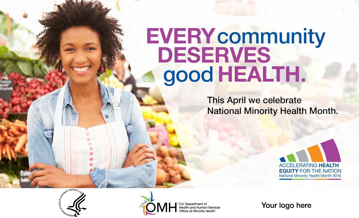 National minority health month health national minority