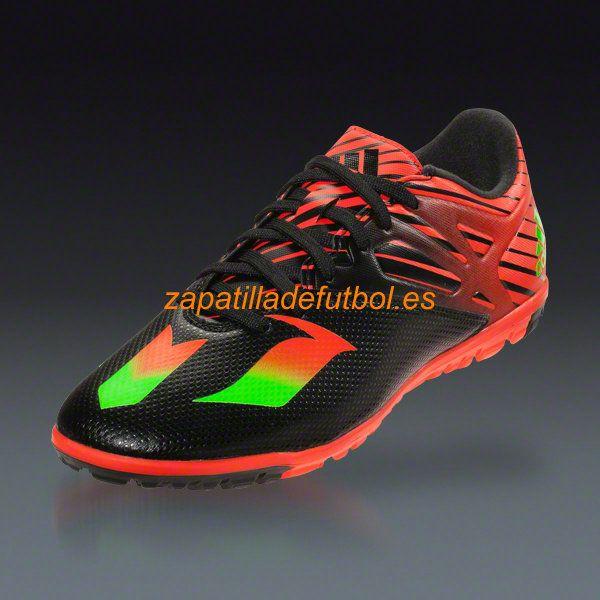 descuento zapatillas futbol sala adidas messi 15.3 tf turf negro solar verde rojo