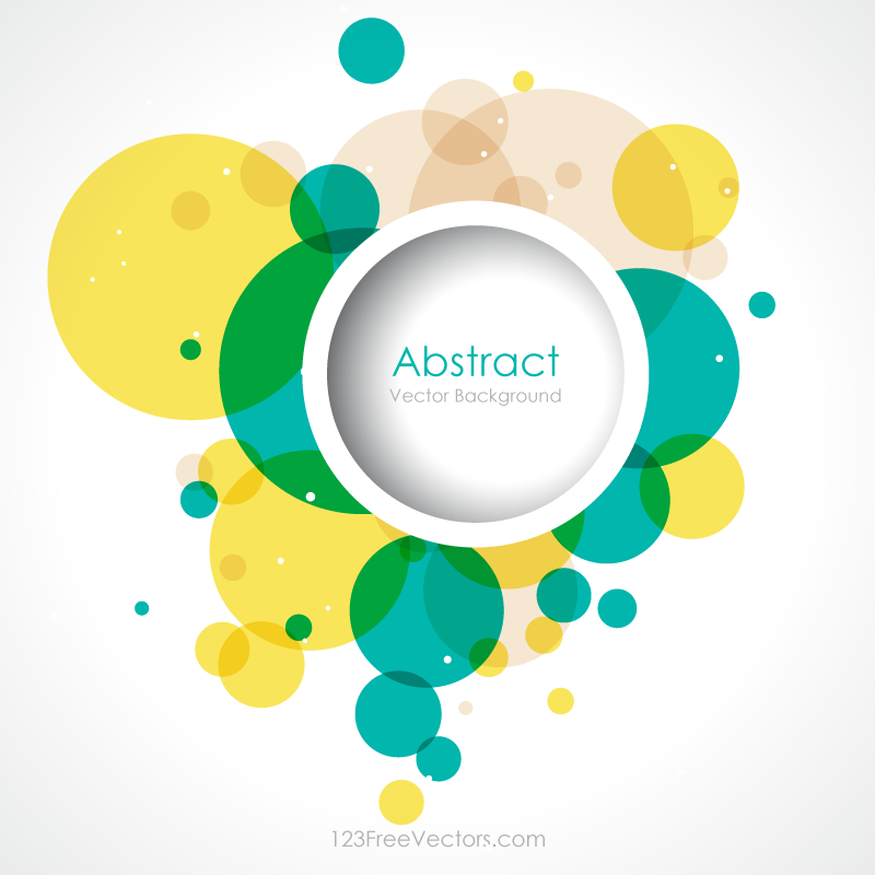 Colorful Abstract Circle Background Vector Background