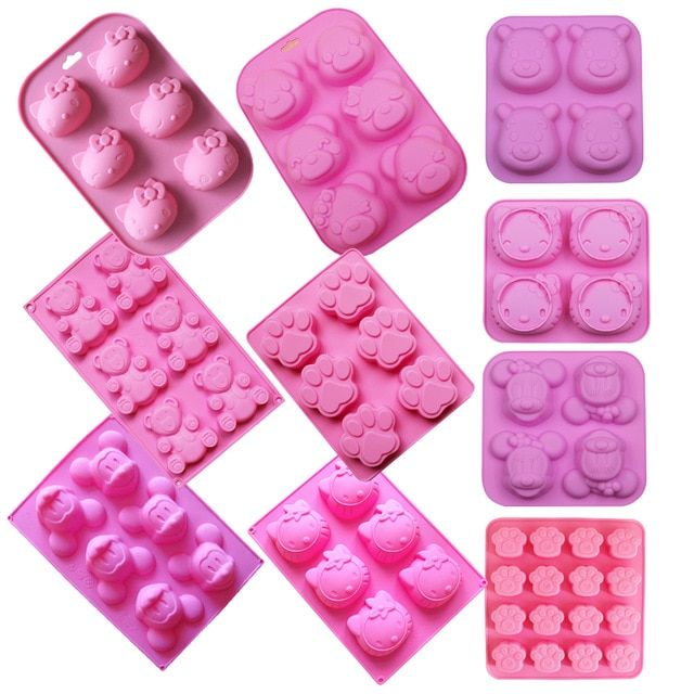 Silicone chocolate mold Cake decorating tools molds Cute ...