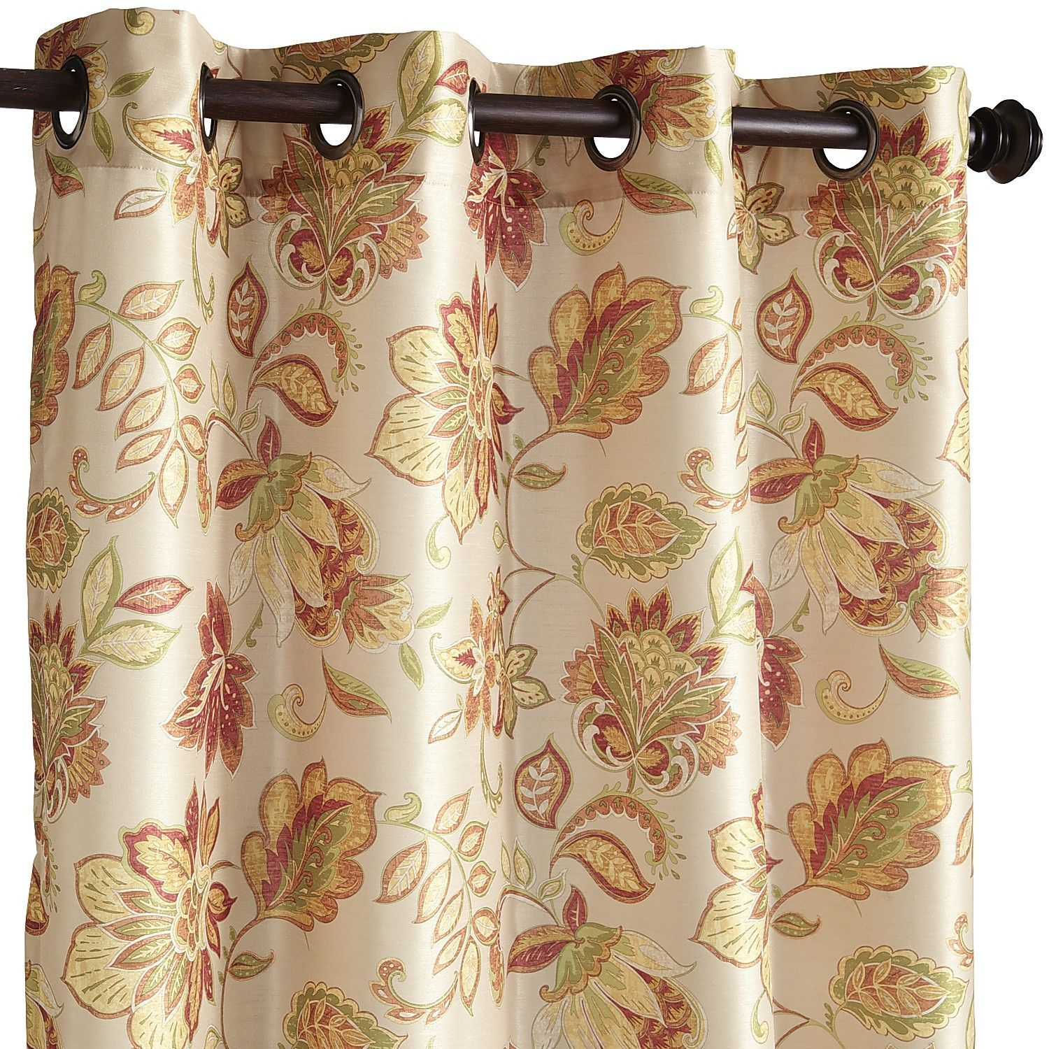 living room window valance ideas%0A Glencove Floral Spice      Grommet Curtain  Living Room IdeasGrommet