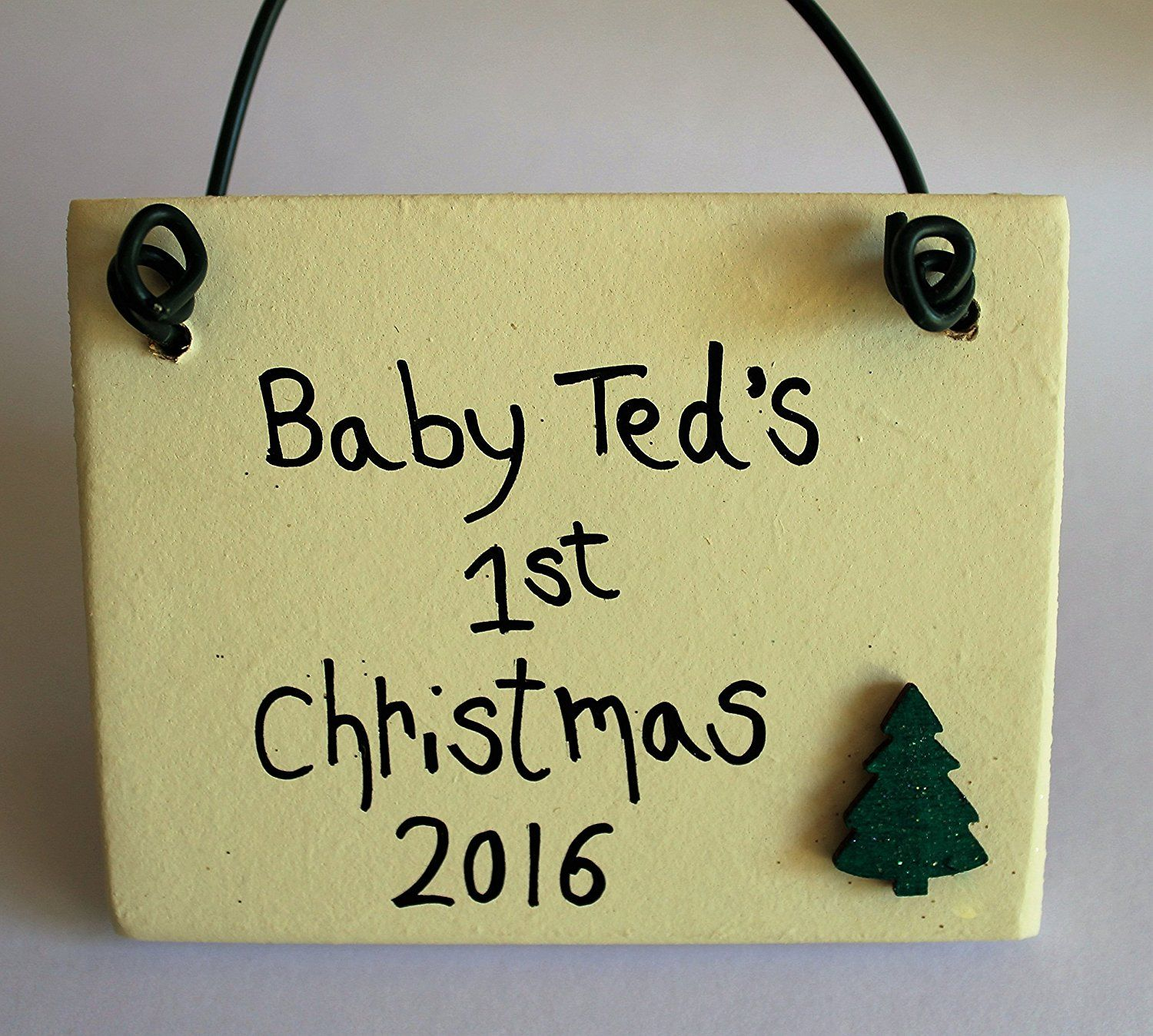 Madeat94New Baby Christmas Plaque Gift 1St Christmas Present