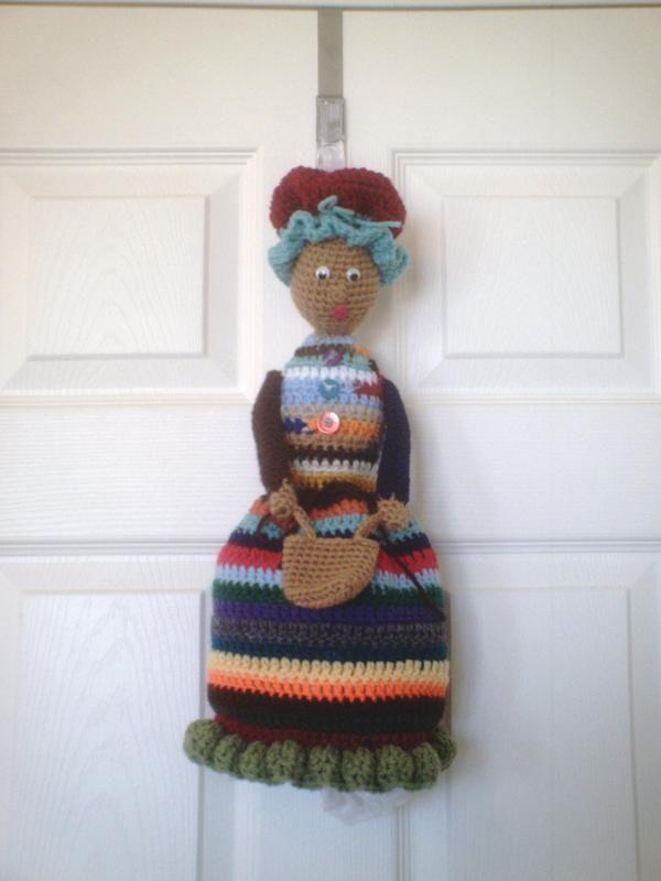 Grocery Bag Holder Crochet Pattern | Bag Lady (Plastic Bag Holder ...