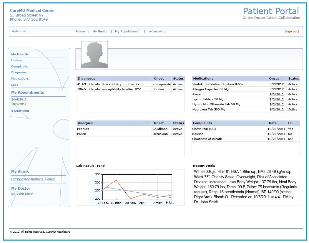 Patient Portal Electronic health records, Patient portal