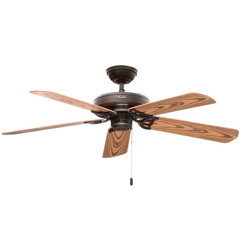 Hunter Bridgeport 52 In Indoor Outdoor New Bronze Ceiling Fan