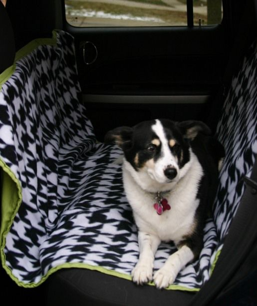 Backseat Car Cover Protects Upholstery Keeps The Dog On The Seat