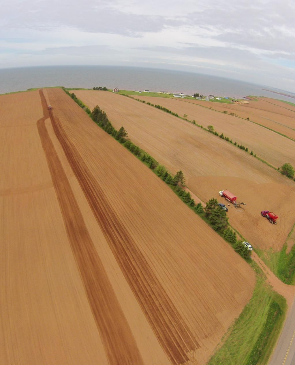 Late Spring potato planting from PEI UAV Services #PrinceEdwardIsland