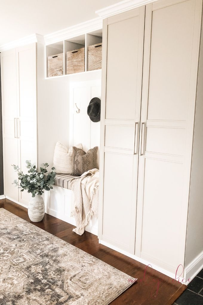 Photo of Our DIY Mudroom Built in Ikea Hack – A Brick Home by Marly Dice