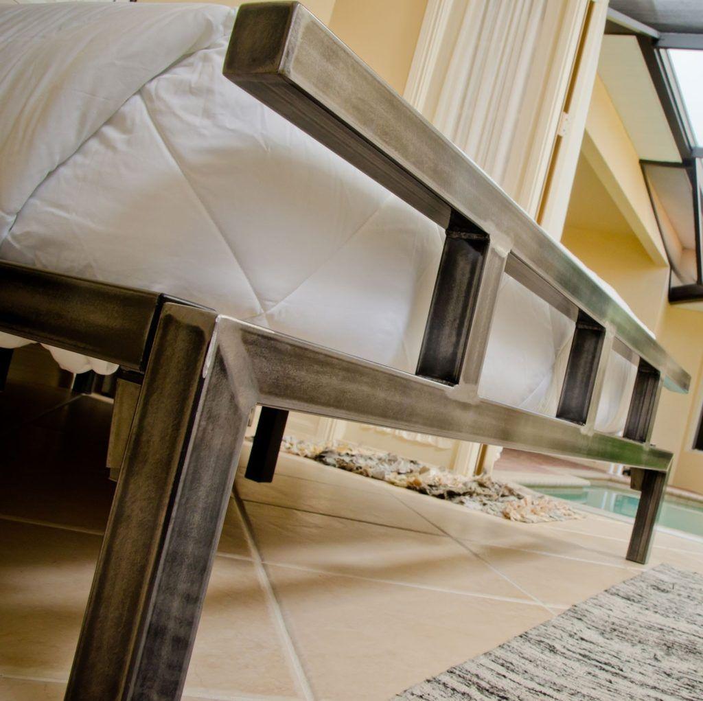 Custom Metal Bed Frames Steel bed frame, Metal bed frame
