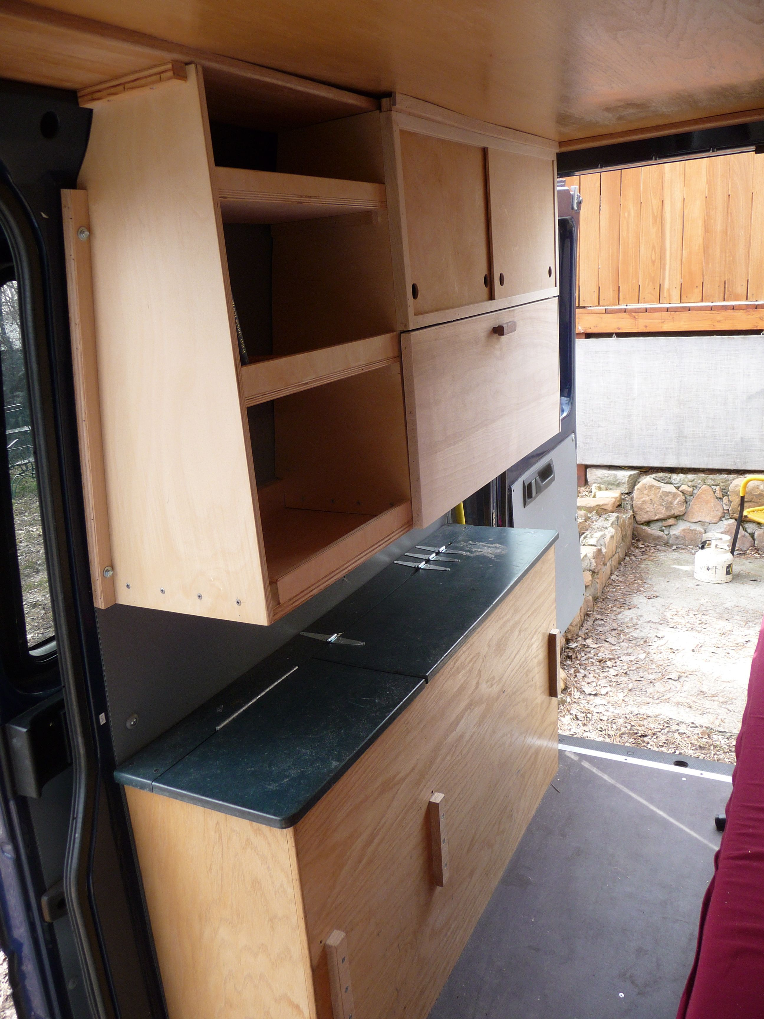 Cabinets And Countertops In Dudley Diy Sprinter Conversion