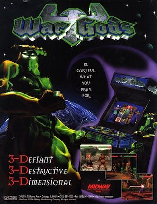 War Gods Video Game Wikipedia The Free Encyclopedia Classic Video Games History Of Video Games Retro Games Poster