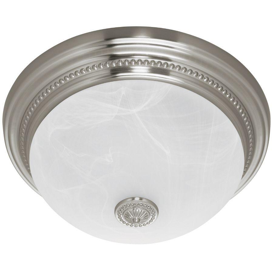 Bathroom Ceiling Light With Fan: Harbor Breeze 1.5-Sone 70 CFM Nickel Bath Fan Item