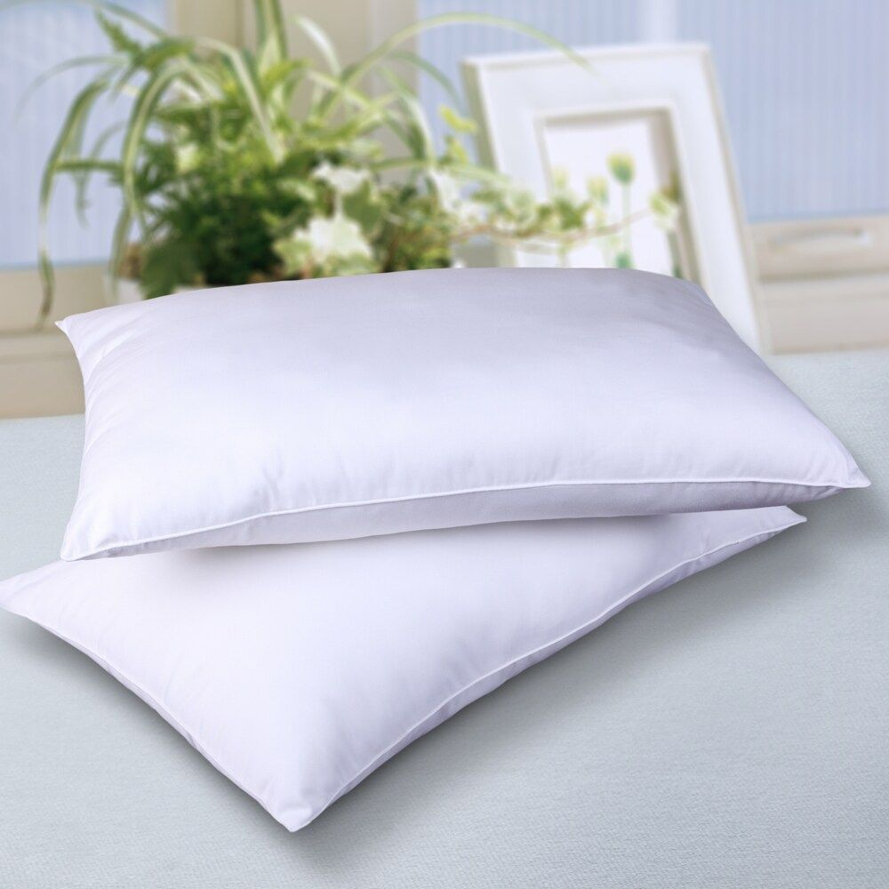 1 Cuddledown Neck Support Cradling Synthetic Fill Pillow Medium Firm All Sizes Pillows Neck Support Bed Pillows
