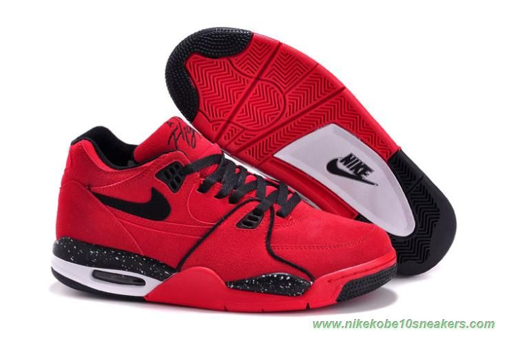 hot sales 7cd13 132e1 Cheap 306252-600 Leather Nike Air Flight 89 Red Black