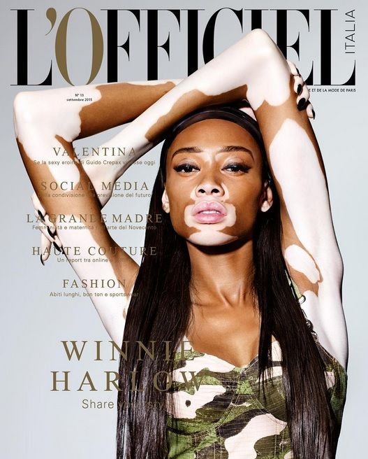 Image result for winnie harlow lofficiel cover