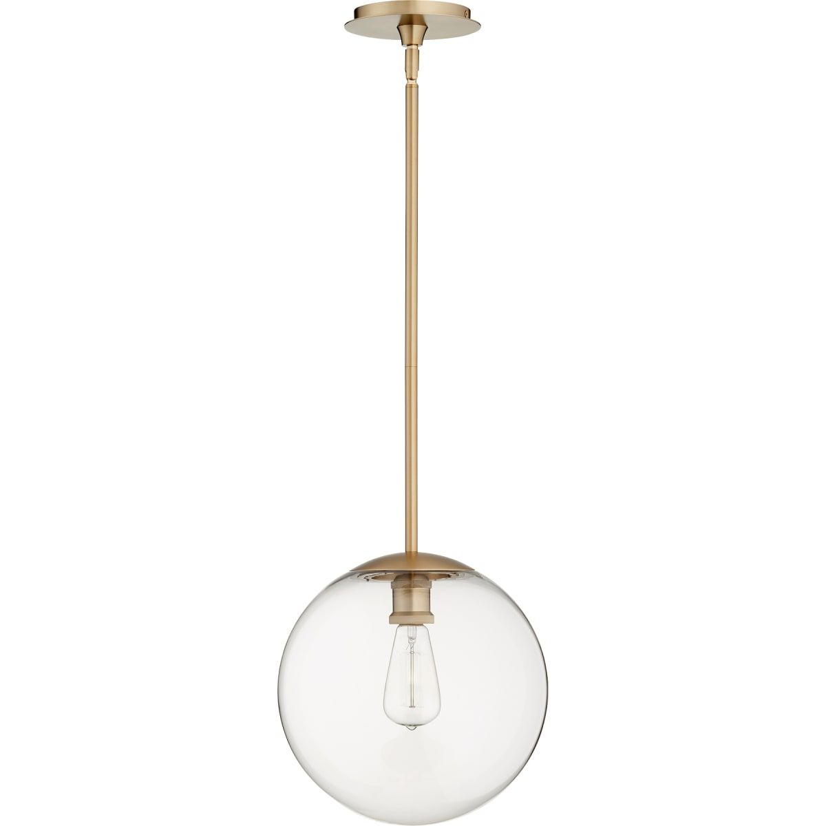 Quorum International 80 12 Build Com Brass Pendant Lights Kitchen Brass Pendant Light Globe Pendant Light