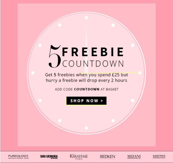 10 minutes before one freebie disappears! http://shoprush.com/freebie-countdown.html  #offers #sale #bbloggers