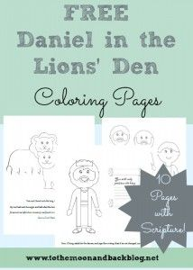 FREE Daniel in the Lions' Den Coloring Pages | BIBLE | Bible school