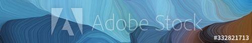 landscape banner with waves. modern waves background design with cadet blue, old mauve and teal blue color