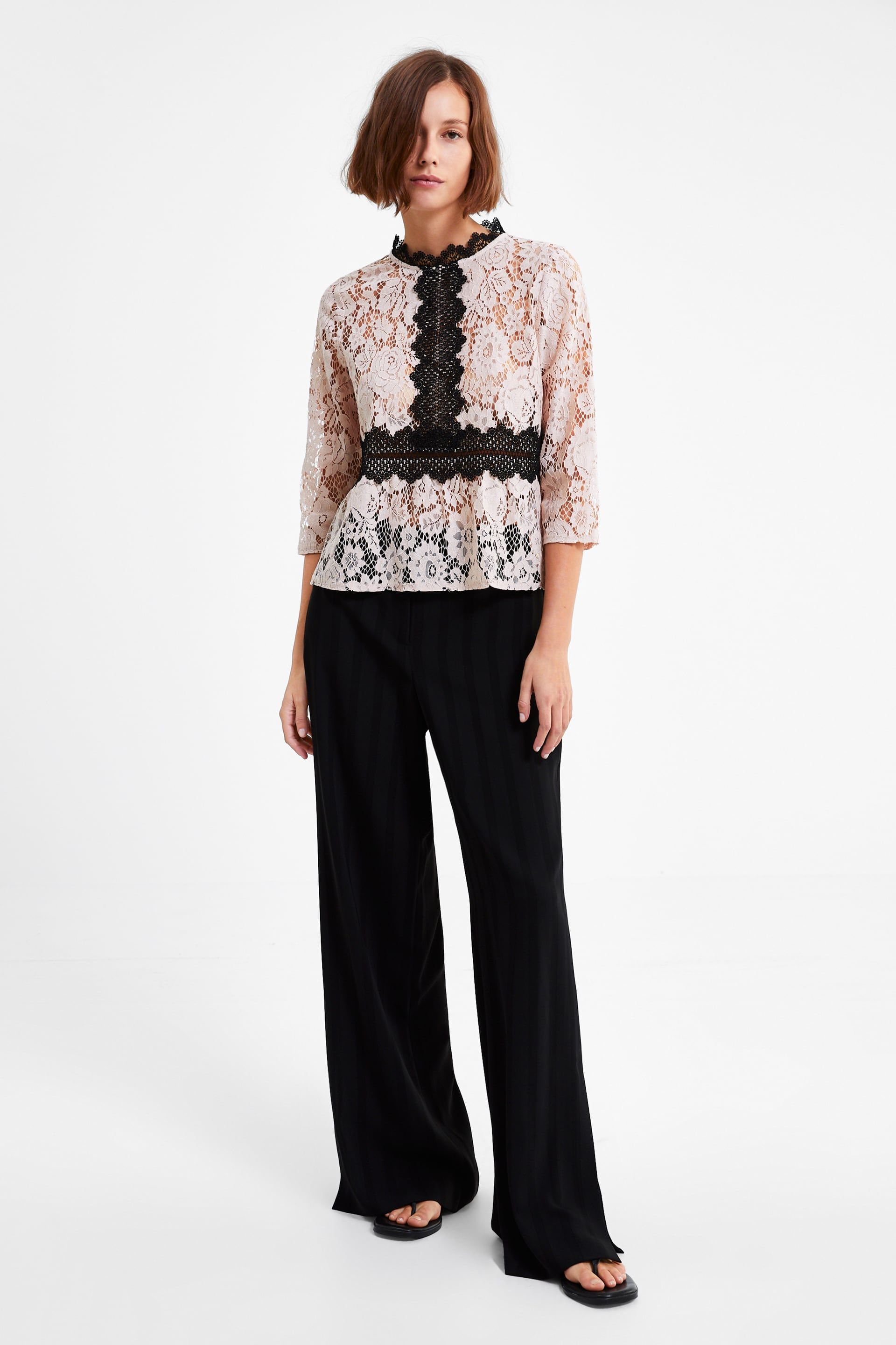 d5e4672abe Contrast lace top in 2019 | Style Inspirations | Lace, Crochet ...