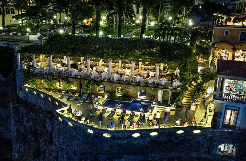 """A summer evening in Sorrento at """"La Pergola"""" restaurant at"""