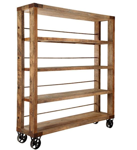 Industrial Style Open Bookshelf Wood And Metal Shelves Wood Bookshelves Wood Bookcase