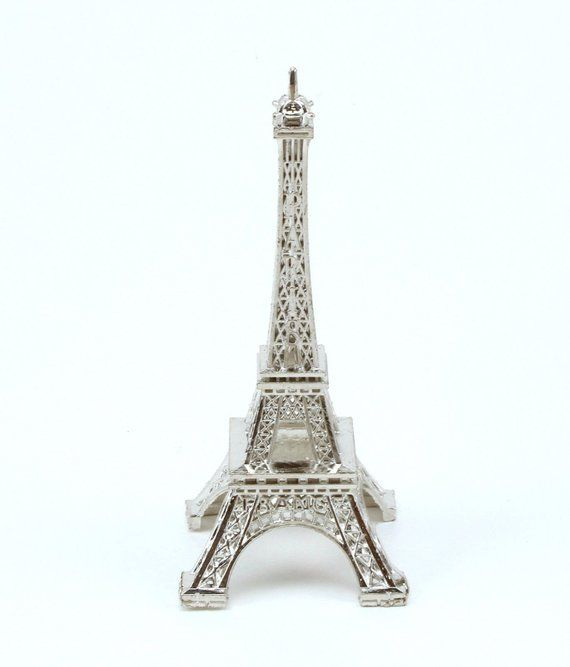 3 inch Silver Mini Eiffel Tower Bulk Figurine Statue Replica