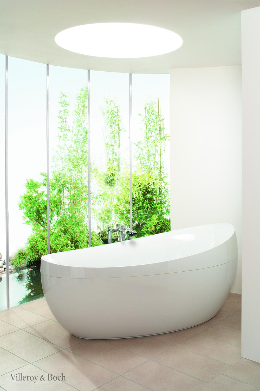 Your Outdoor Bathroom Plants Villeroy Boch In 2020 Freistehende Badewanne Badezimmerpflanzen Aussenbad