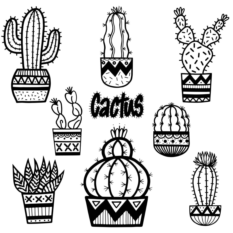 Cactus Clip Art Cactus Cute Cactus Hand Drawn Doodles
