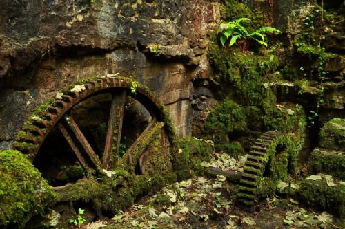 abandonedography:  Machinery at the old gunpowder works, Ponsanooth, west Cornwall, Mike Crowle