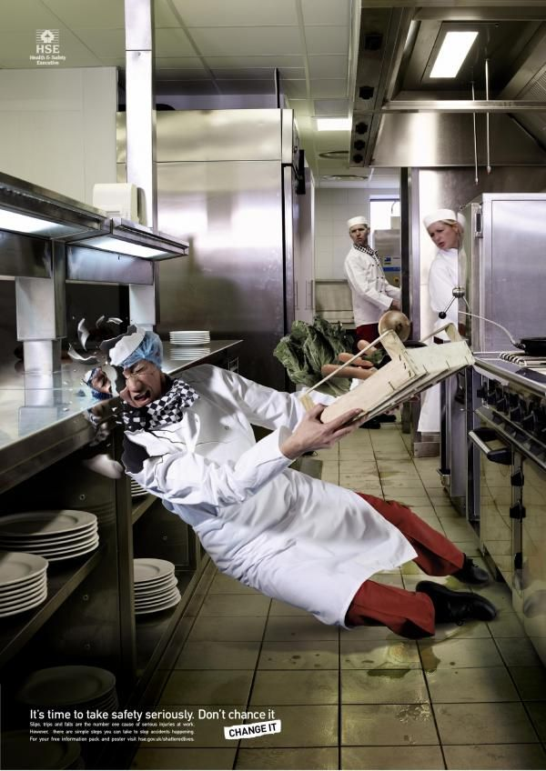Image result for kitchen safety images slips and falls