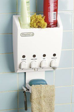 Better Living Products Dispenser Shower Caddy Four Chamber