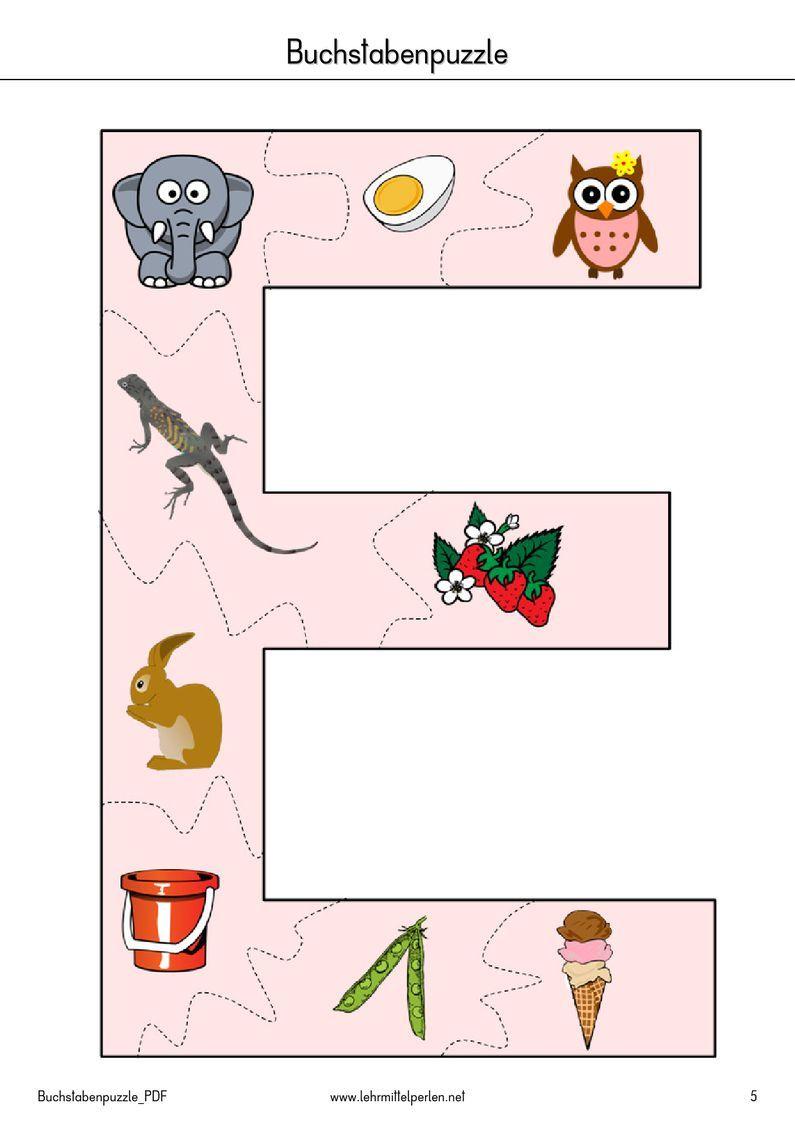 buchstaben puzzle pdf to flipbook deutsch pinterest pdf kindergarten and montessori. Black Bedroom Furniture Sets. Home Design Ideas